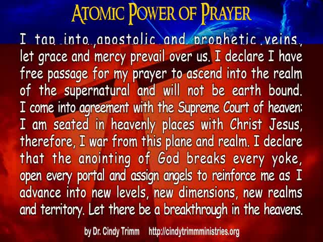 trueGODtv - Atomic Power of Prayer by Dr  Cindy Trimm